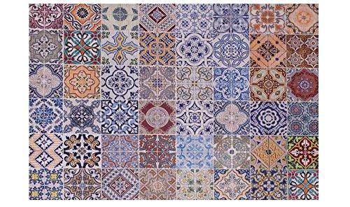 Webtappeti.it tappeto moderno disegno maioliche colorate sicily