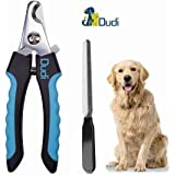 Dudi Dog Nail Clippers and Trimmer - with Quick Safety Guard to Avoid Over-Cutting Toenail - Grooming Razor Sharp Blades for Small Medium Large Breeds
