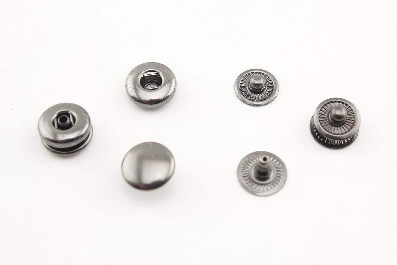 8 mm rame pulsante Snap bottoni a perno bottoni per cucire artigianale in pelle abbigliamento,40 set per lotto Nickel i43