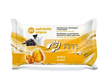 Professional Pets - Toallitas refrescantes, limpiadoras y perfumadas para perros, gatos y cachorros,