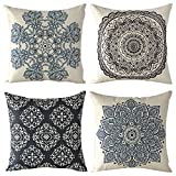 Decorative Pillow Cover - WOMHOPE 4 Pack - 17