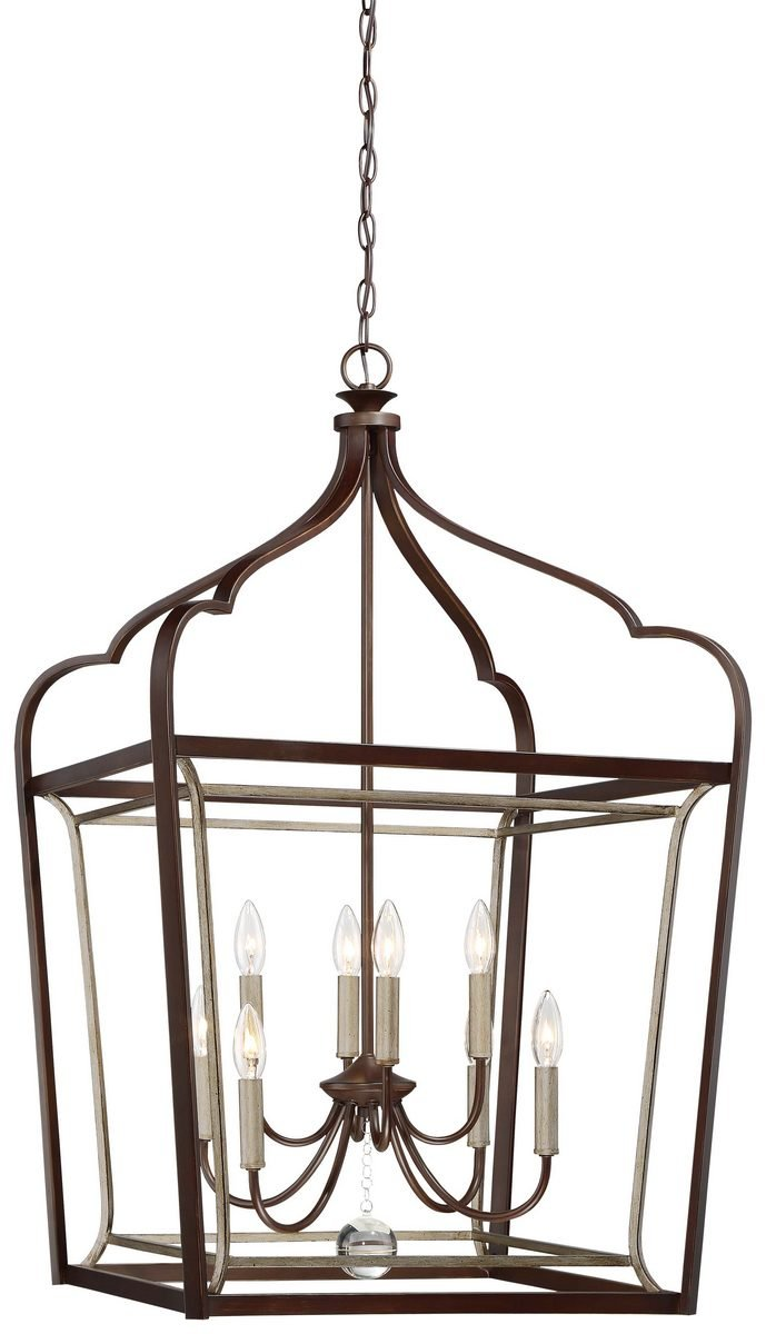 Minka Lavery Minka 4349-593 Transitional Eight Light Foyer from Astrapia Collection in Bronze/Darkfinish, 22.75 Inches 22.75 Incheseight