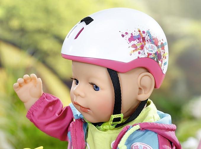 Baby Born Play&Fun Biker Helmet Casco de muñeca Accesorios para muñecas (Casco de muñeca, 3 año(s), Rosa, Color Blanco, Chica, 1 Pieza(s), 43 cm)