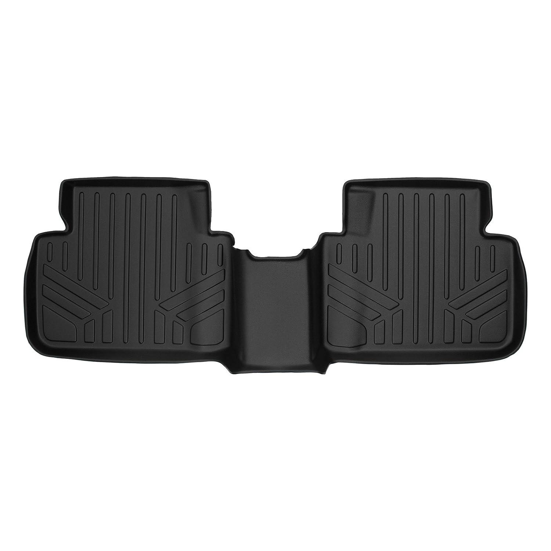 SMARTLINER Custom Fit Floor Mats 2nd Row Liner Black for 2016-2019 Honda Civic Sedan or Hatchback Only