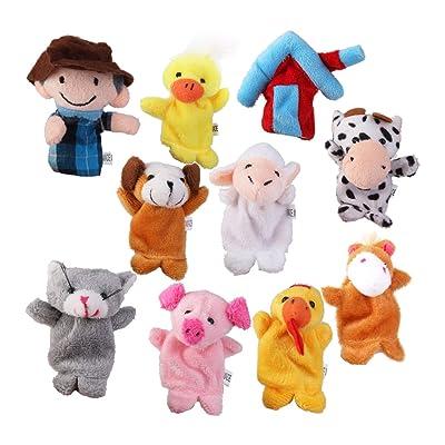 10pcs Juguetes Marioneta de Mano Títeres de Dedos Juegos Infantiles: Juguetes y juegos