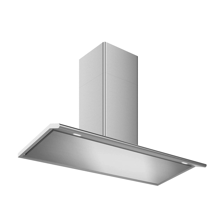 Futuro Futuro Capri 48 Inch Wall-mount Kitchen Range Hood - Slim Contemporary Modern Italian Design - Stainless Steel LED Ultra-Quiet with Blower