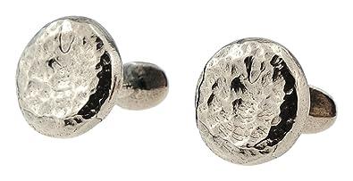 Bronze Hammered 8th Wedding Anniversary Traditional Cufflinks: Amazon.co.uk: Jewellery