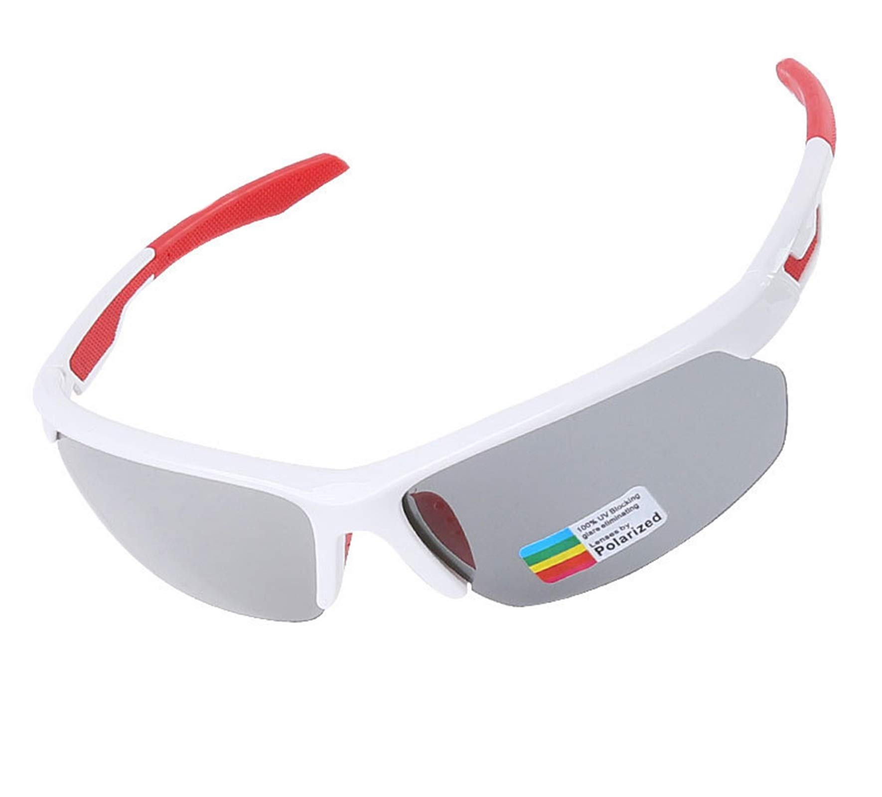 Adisaer Outdoor Bicycle Goggles Cycling Color Changing Polarized Riding Sports Glasses White Red for Adults