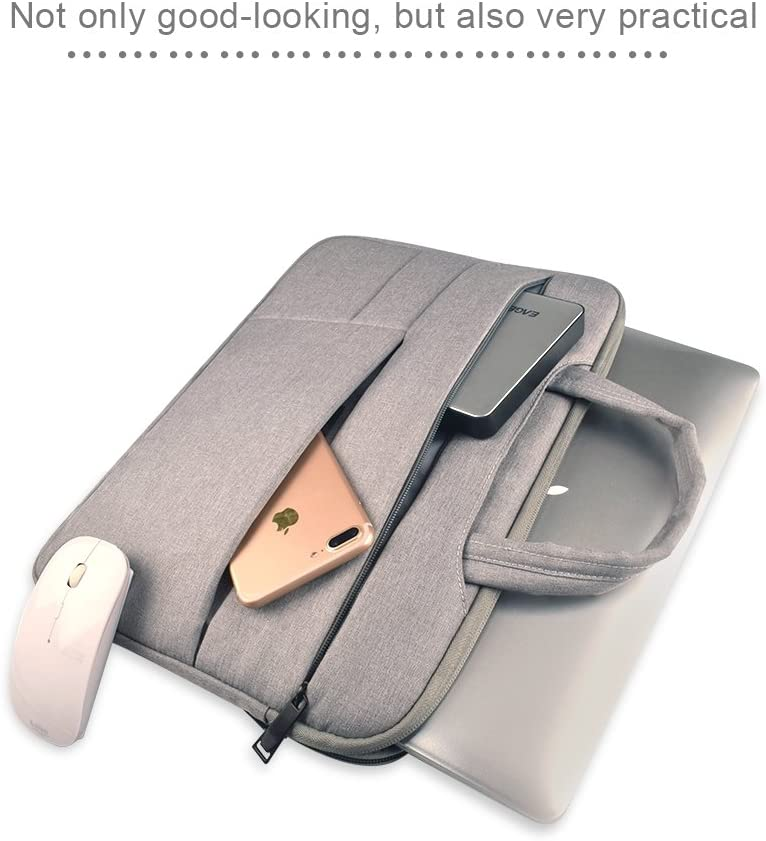 Laptop Bag Universal Multiple Pockets Wearable Oxford Cloth Soft Portable Leisurely Handle Laptop Tablet Bag Color : Grey for 15.6 inch and Below Computer Bag