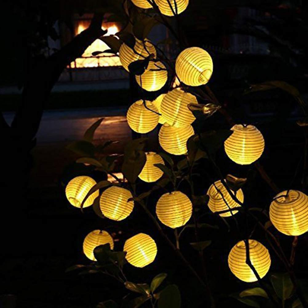 Lanterne de Couleur 30LEDs Lanterne Solaire en Forme de Guirlande Lumineuse pour d/écoration ext/érieure Voyant de Batterie 10 lumi/ères 20LEDs VEDONER Guirlande Lumineuse 10LEDs