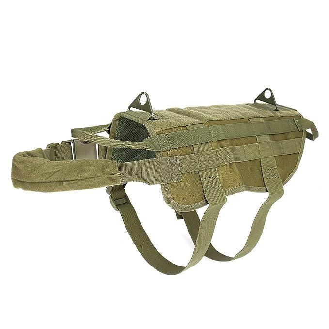 L-xia-dg, Arnés Modular para Perros táctico Militar Sin tirón Clip ...