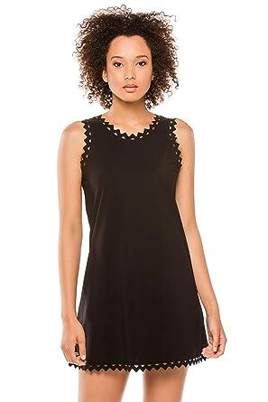 2d3543757c7402 Karla Colletto Women's Zig-Zag Trim Short Dress Swim Cover Up Black M at  Amazon Women's Clothing store: