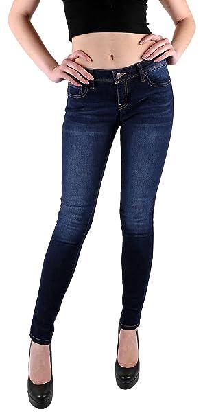 Amazon.com: Foxy Gris para mujer jeans ajustados | Elástico ...