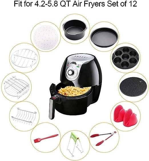 Freidora de aire multifuncional, utensilios de cocina con bandeja ...