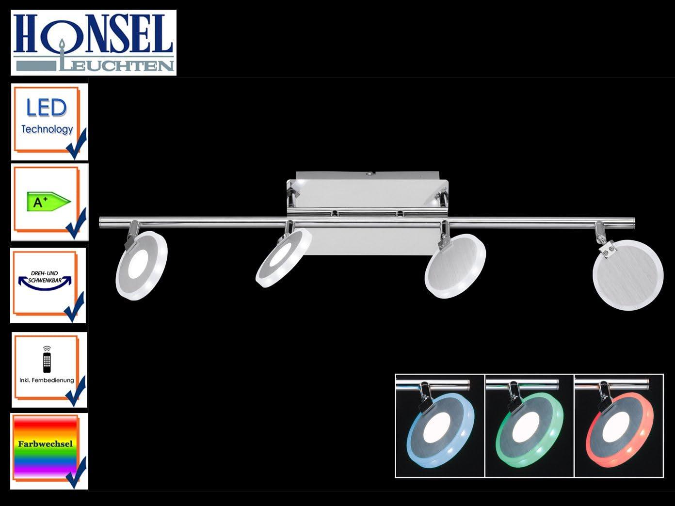 4De flammiger LED 767702540000Tonic RGBW, mando a distancia, cambio de color, Foco orientable.