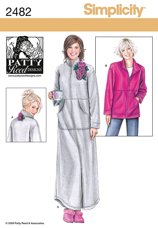 Amazon.com: Simplicity Patty Reed Designs Pattern 2482 Misses Lounge Wear in Two Lengths Sizes 14-26 M-L-XL-XXL: Arts, Crafts & Sewing