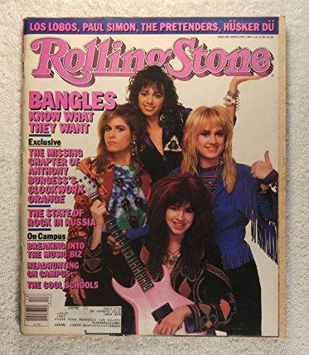 Susanna Hoffs, Debbie Peterson, Michael Steele & Vicki Peterson - The Bangles - Rolling Stone Magazine - #496 -...
