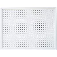 "Premium Framed Peg Board Organizer Kit | 23"" x 30"" White 