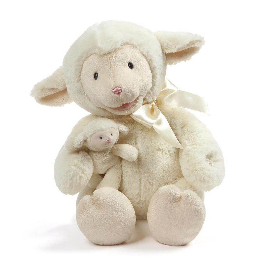 "10/"" Baby GUND Animated Talking Nursey Time Lamb with 5 Nursery Rhymes"
