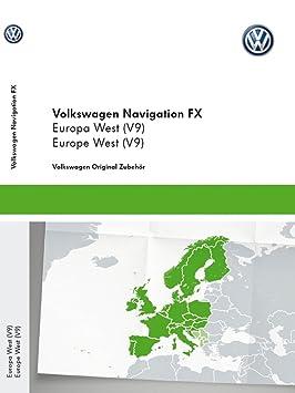 Volkswagen Original Tarjeta SD de navegación V9 Europa RNS 310 Sistema de navegación FX Navi Software Update 3 C8051884da: Amazon.es: Coche y moto