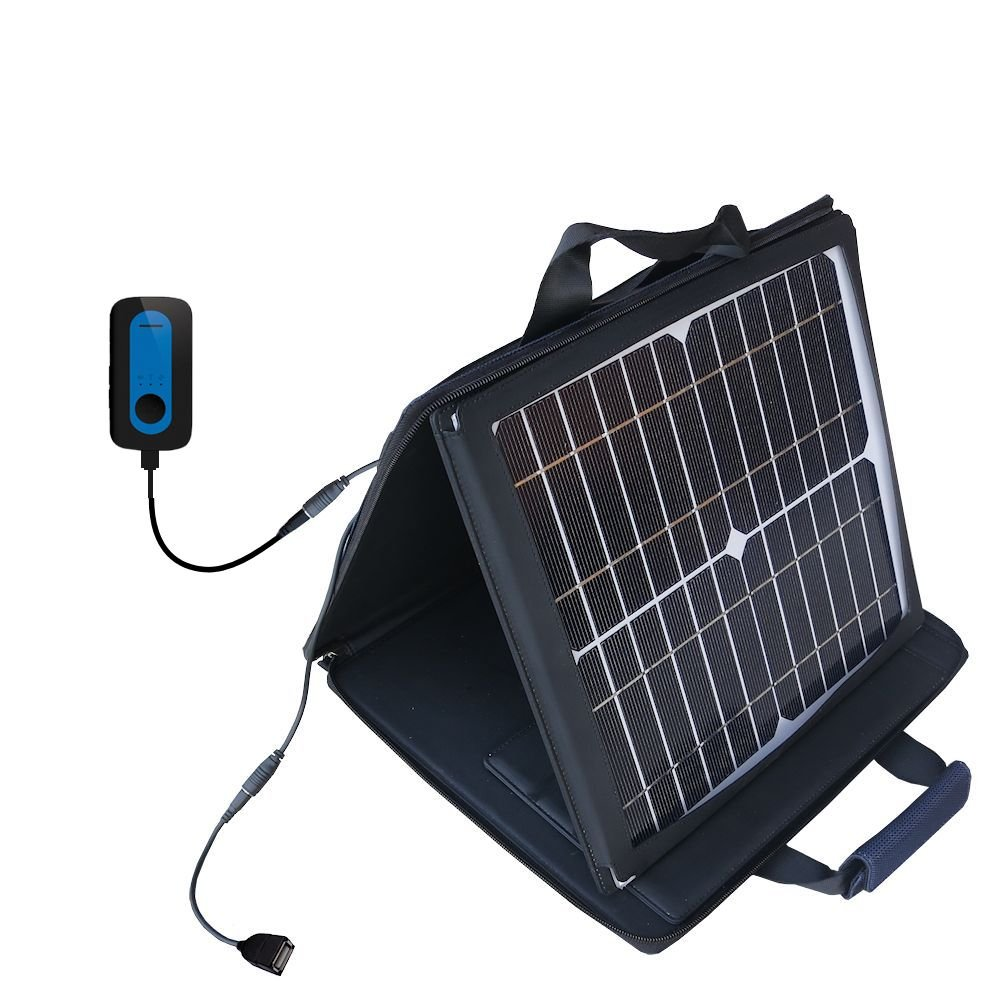 Gomadic SunVolt High Output Portable Solar Power Station designed for the Amber Alert GPS Device - Can charge multiple devices with outlet speeds
