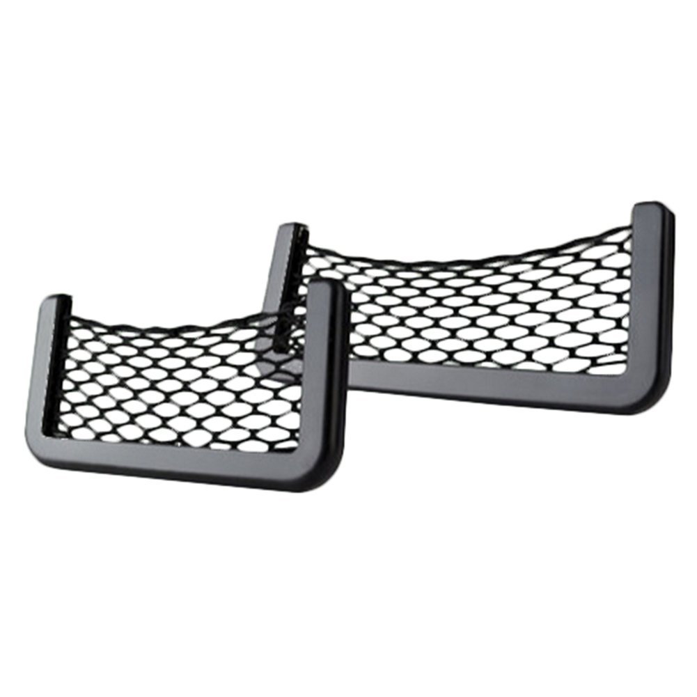 VI yo red de almacenamiento universal bolsa de compartimiento de almacenamiento asiento de coche organizador soporte ideal para tel/éfonos m/óviles teclas efectivo 1/pieza 15*8.5cm B nailon
