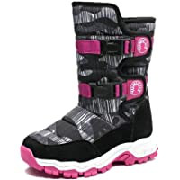 YUNICUS Kids Snow Boots for Boys Girls Little Kids Winter Warm Fur Lined Shoes