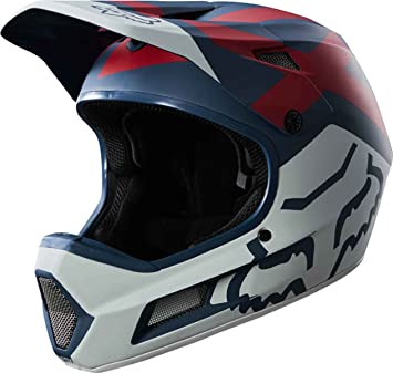 Fox Rampage Comp Preme Casco, Blue/Red, tamaño XL