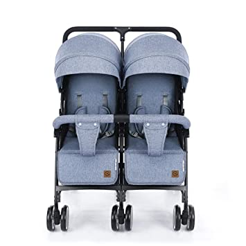 Los cochecitos de bebé gemelos pueden sentarse y acostarse ...