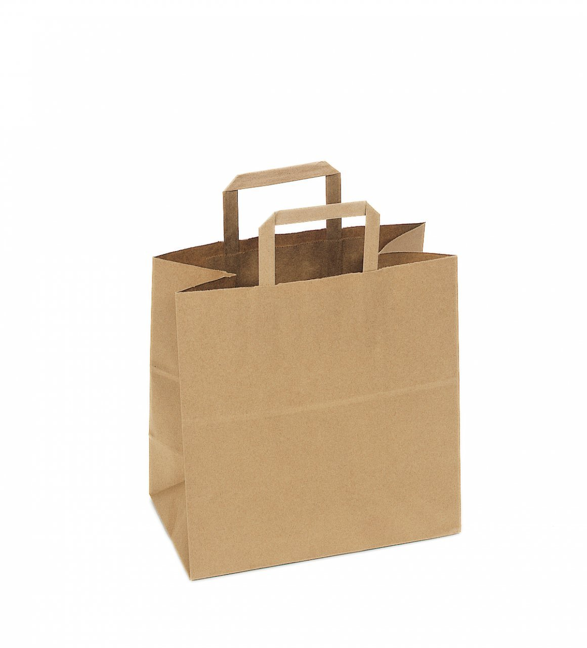 SafePro 12717, 12x7x17-Inch Kraft Paper Shopping Bags With Handles, Disposable Take Out Unprinted Grocery Bags, 300-Piece Bundle