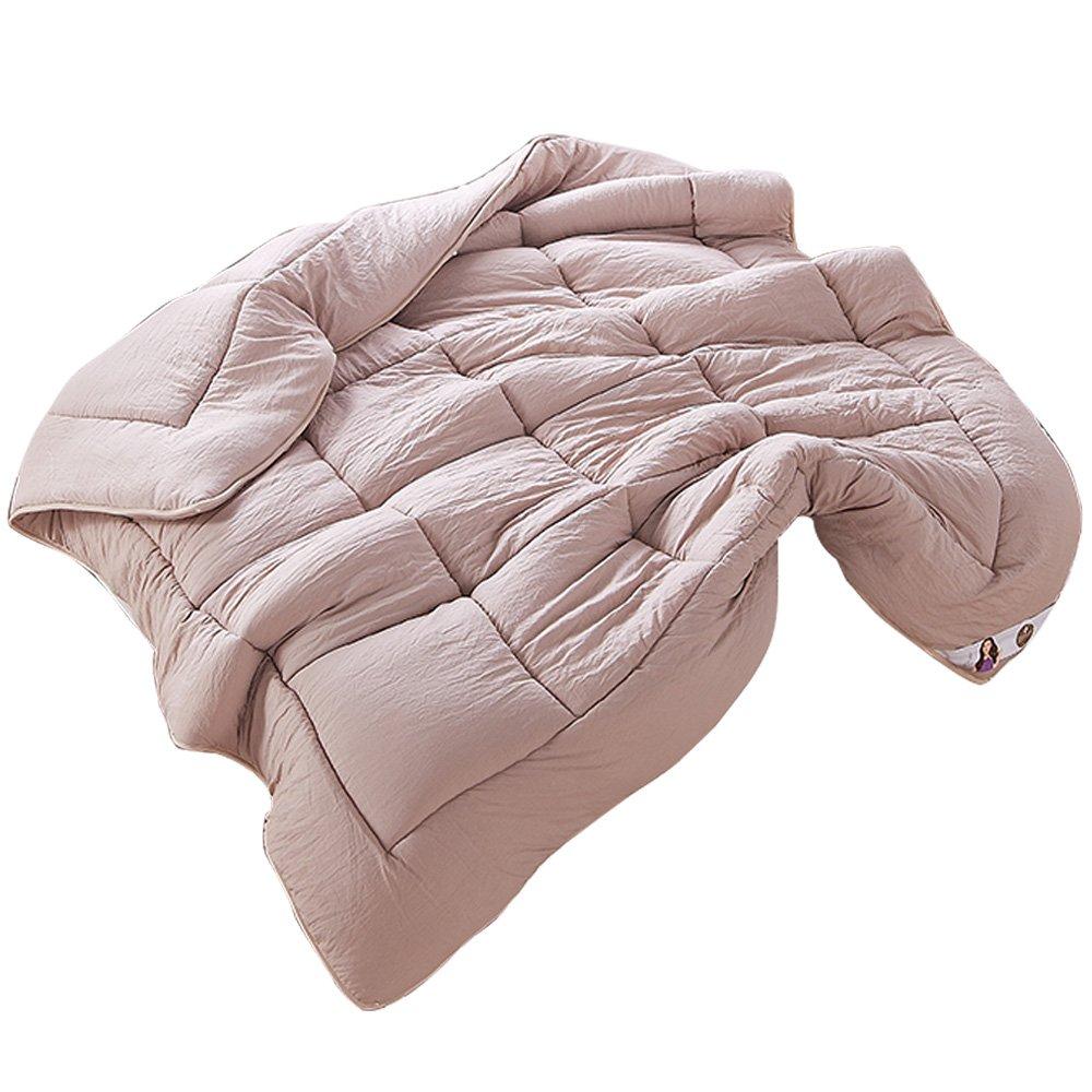 NATURETY All Season Down Alternative Quilted Comforter,Washable Duvet Insert (Twin/Twin xl, Khaki)