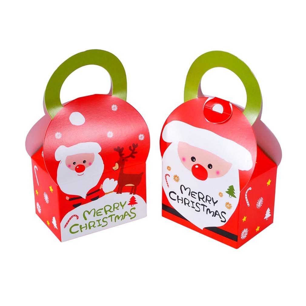 Souarts 12PCS Boîte à Dragées Motif Père Noël pour Chocolat Bonbons Biscuit Noël 9cmx6cmx12cm Hellocrafts
