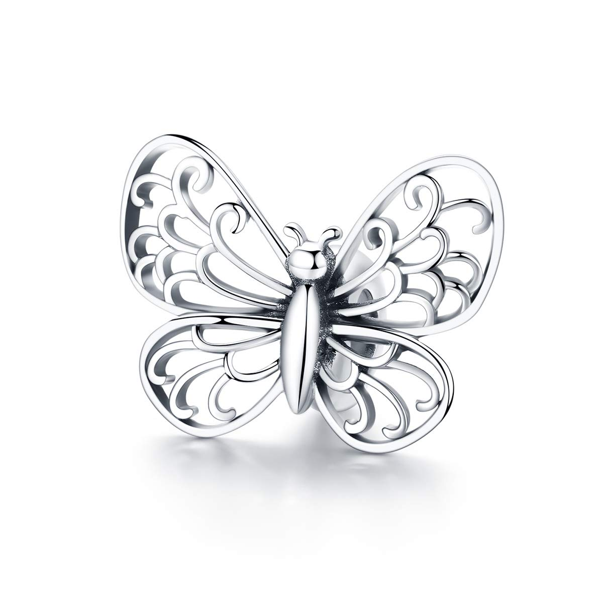 276cb30ce BAMOER Butterfly Sterling Silver Charm Nature Animal Butterfly Bead Charm  for European Bracelet Necklace Gift product