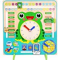 LAANCOO Reloj y Calendario para Niños Rana Reloj