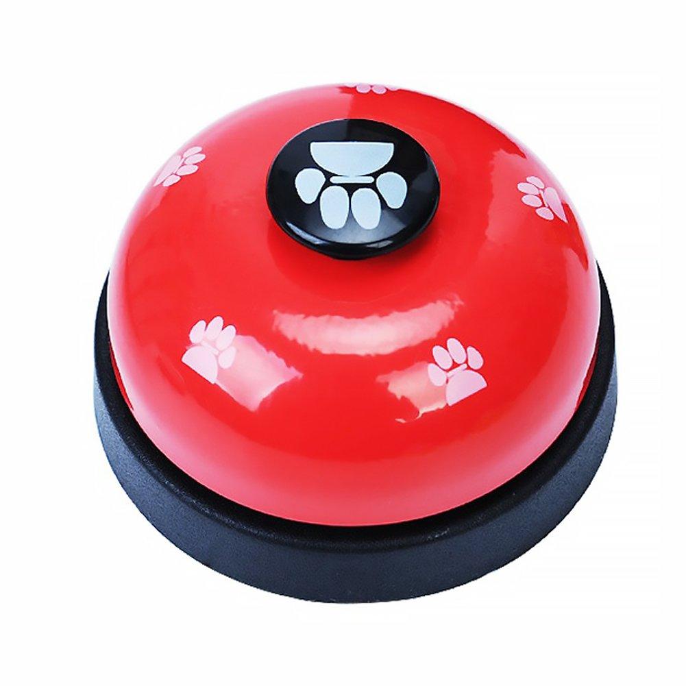 Naisicatar Animal Domestique D'entraînement Cloches Desk Bell Appel Bell Jouets Interactifs Pour Chien Chiot Dîner Repas Sonnettes D'apprentissage De La Propreté Et De Communication Appareil # Rouge # X 1