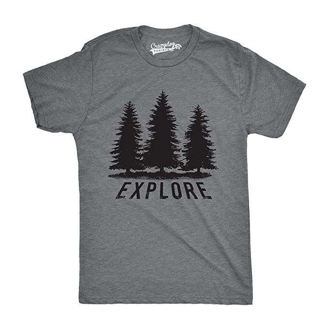 7cb71fdf2eb Mens Explore Pine Trees Outdoor Adventure Cool T Shirt
