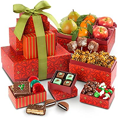 Golden State Fruit Festive Holiday Favorites Fruit and Sweets Tower