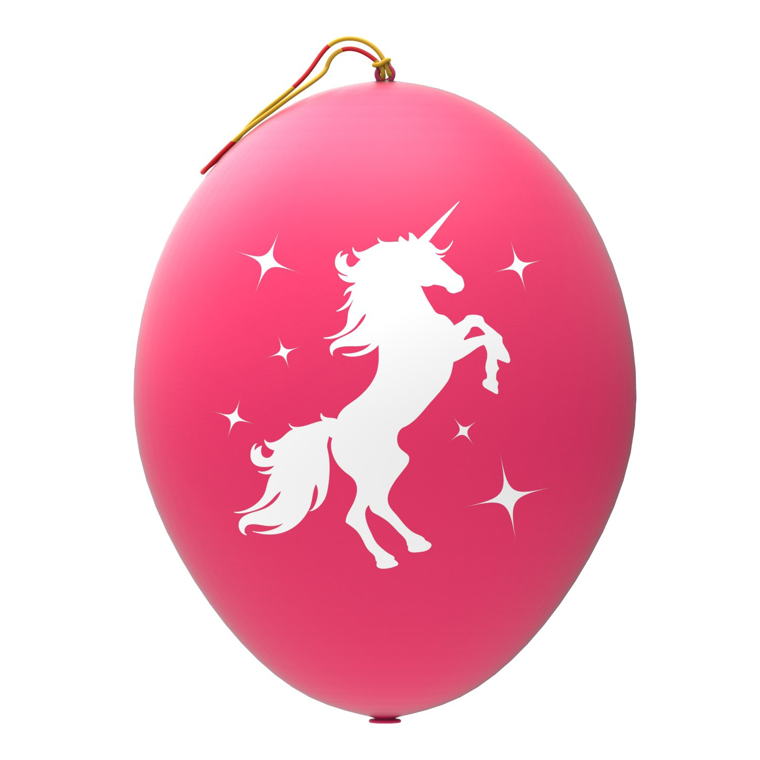 24 Pink Unicorn Punch Balloons - Best for Birthday Gift Bags, Kids Games, Princess Parties and Unicorn Party Supplies - Extra Large, Eco Friendly Natural Latex Punch Balls for Girls - By John & Judy
