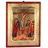 The Crucifixion Greek Painted Icon
