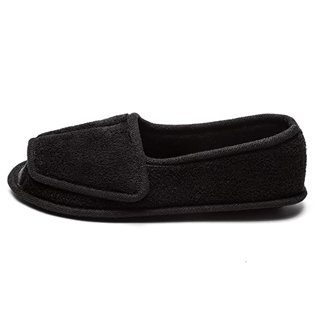 Amazon.com | Git-up Diabetic Slippers for Women Memory Foam Arthritis Edema Adjustable Open Toe Swollen Feet House Shoes | Slippers