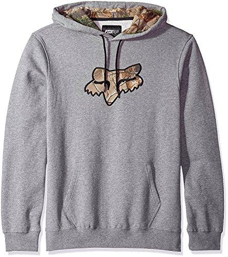 Fox Men's Realtree Pullover Fleece, Heather Graphite, X-Large