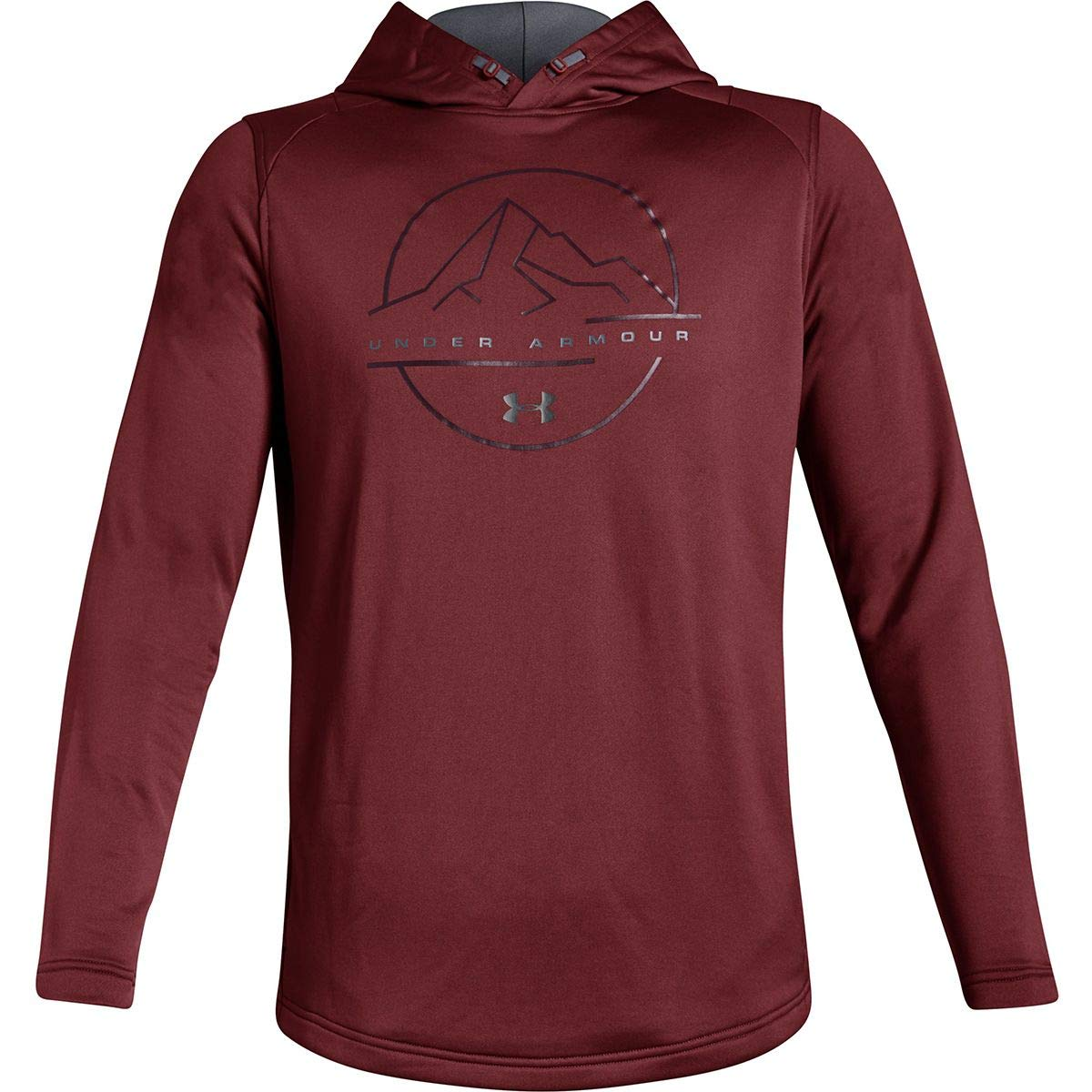 Under Armour Tech Terry MTN Graphic Hoodie - Men's Brick Red/Graphite, S