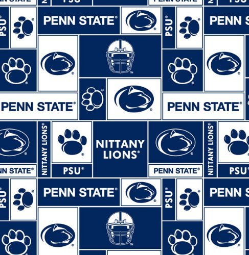 College Penn State University Nittany Lions 012 Print Fleece Fabric By the Yard by Field's Fabrics ()