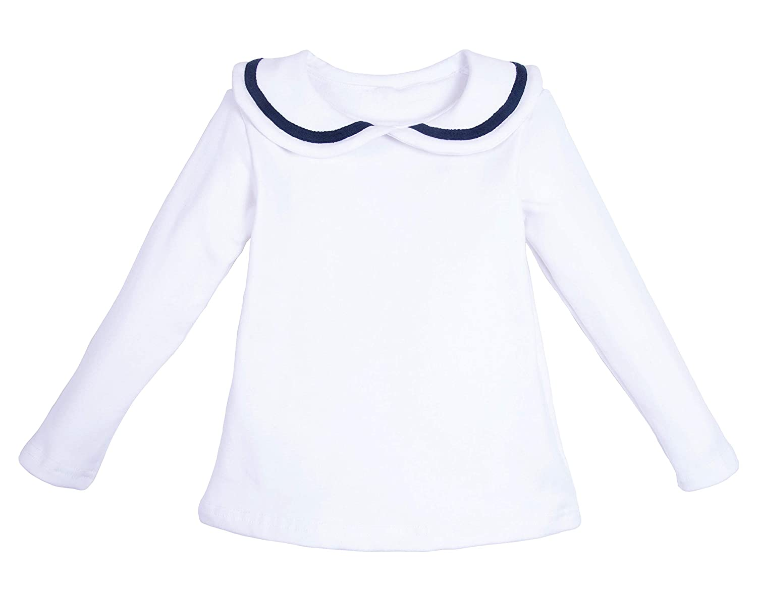 ContiKids Girls Peter Pan Collar Polo Shirt Blouse