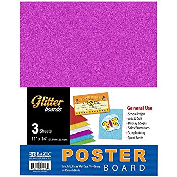 ArtSkills Neon Poster Boards Pa-1507 5-Pack Assorted Colors 11x14