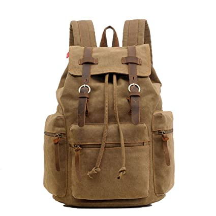 bf8b942d2fa4 Image Unavailable. Image not available for. Color  Imzoeyff 30L Big  Capacity Laptop Computer Canvas Back Packs Women Travel Shoulder Bags Men  School Vintage