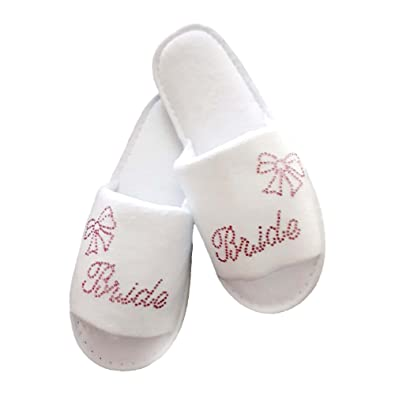 0aee93f563f lin.m Bride Spa Slippers Bride Bridesmaid Bridal Wedding   Hen Night Guest  Role Sparkling