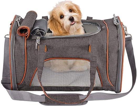 Portador del Gato, Portador del Perro, para Los Pequeño Mediano Cachorros Gatos Perros Conejito, Suave Pequeño Perro Echado A Un Lado del Portador Plegable del Perrito De Carrier: Amazon.es: Hogar