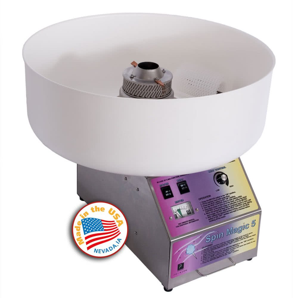 7150300 Spin Magic 5 Cotton Candy Machine with 26'' Plastic Bowl by TableTop king