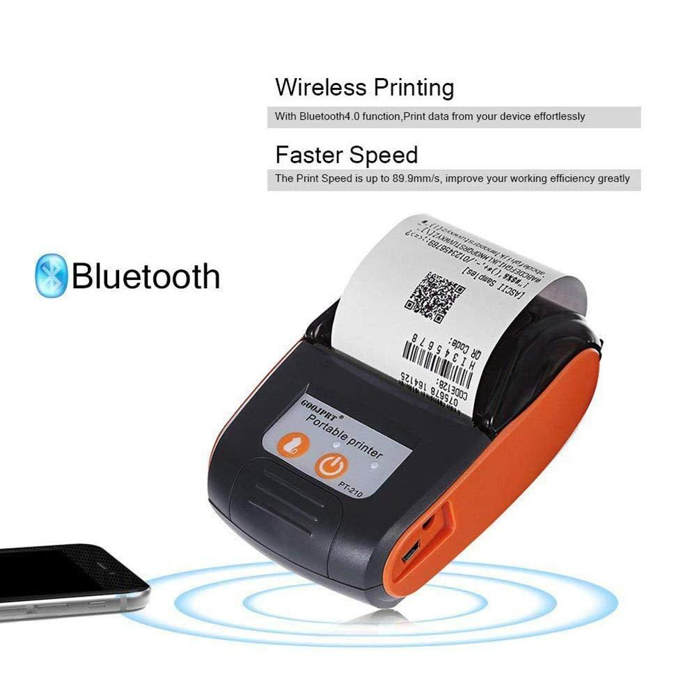 iBàste Impresora WiFi Mini Térmica Tickets Inalámbrica 58 Mm ...